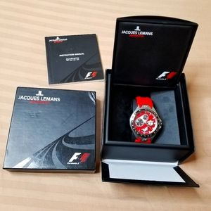 Jacques Lemans Men's F5017 F1 Watch - Red
